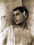 Study of a Boy with Flowers in His Hair, Naples, C.1899 Photographic Print by Wilhelm Von Gloeden