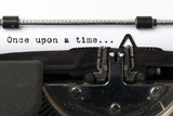 "Words ""Once Upon A Time"" Written With Old Typewriter Plastic Sign by  foodbytes"