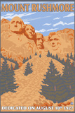Mount Rushmore National Park, South Dakota Plastic Sign by  Lantern Press