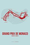Monaco Grand Prix 3 Plastic Sign by  NaxArt