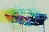 Ford Mustang Watercolor 2 Pancarte matière plastique par  NaxArt