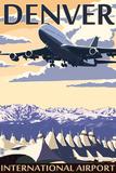 Denver, Colorado - Airport View Wall Sign