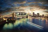 dellm60 - Amazing New York Cityscape - Taken After Sunset Plastové cedule