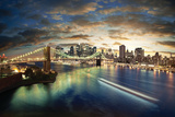 Amazing New York Cityscape - Taken After Sunset Wall Sign by  dellm60