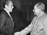President Nixon Meeting Mao Zedong in Peking, 1972 Photographic Print