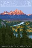 Grand Teton National Park - Snake River Overlook Wall Sign
