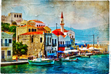 Beautiful Kastelorizo Bay (Greece, Dodecanes) Wall Sign by  Maugli-l