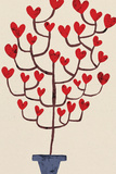 Heart Tree in Pot Plastic Sign