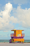 Miami Beach Florida Lifeguard House Wall Sign by  Fotomak