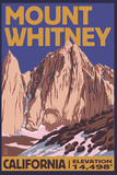 Mt. Whitney, California Peak Wall Sign by  Lantern Press