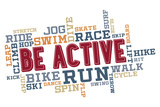 Active Fitness Word Cloud Collage Plastic Sign by  daveh900