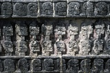 Skull Platform or Tzompantli, Stone Bas-Relief, Chichen Itza Photographic Print