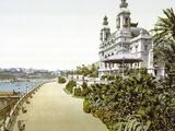 Side View of Monte Carlo Casino in Monaco, 1890-1900 Photographic Print