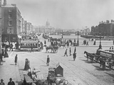 O'Connell Bridge and Quays, Dublin, Ireland, C.1885 Photographic Print