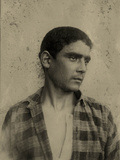 Portrait of a Young Man in a Checkered Shirt, Sicily C.1896 Photographic Print by Wilhelm Von Gloeden