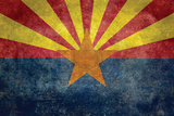 Arizona State Flag - With Distressed Treatment Plastic Sign by Bruce stanfield