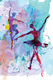 Two Dancing Ballerinas Watercolor 2 Carteles de plástico por Irina March