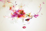 Beautiful Fashion Women With Abstract Design Elements Wall Sign by  artant