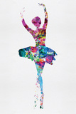 Ballerina Watercolor 1 Wall Sign by Irina March