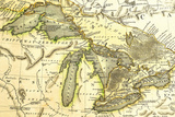 1795 Map Of The Great Lakes Plastic Sign by  Tektite