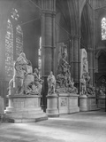 Interior of Westminster Abbey with Statues of Eminent Figures Buried There Photographic Print by Frederick Henry Evans
