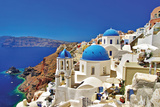Amazing Santorini - Travel In Greek Islands Series Plastikskilte af Maugli-l