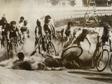 Crash at a Bicycle Race in Milwaukee, Wisconsin, 1934 Photographic Print