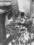 Scene of Panic, Wall Street Crash, Thursday 24th October 1929 Stampa fotografica