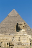 The Sphinx of Giza and Pyramid of Khafre, Giza Necropolis Photographic Print