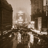 Winter Evening, Times Square, Broadway, New York, Early 1930S Photographic Print