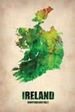Ireland Watercolor Map Plastic Sign by  NaxArt