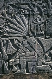 Temple of Warriors, Detail of Reliefs, Chichen Itza Photographic Print