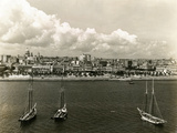 City and Harbor Views of Havana from El Morro Lighthouse Photographic Print