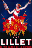 Kina Lillet Vintage Poster - Europe Plastic Sign by  Lantern Press