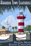 Hilton Head, South Carolina - Harbour Town Lighthouse Wall Sign von  Lantern Press