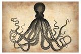 Vintage Octopus Plastic Sign by  NaxArt