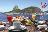 Breakfast In Rio De Janeiro Plastic Sign by luiz rocha