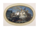 Italy, Venice, Dome of Church of Pieta or St Mary of Visitation, Theological Virtues Giclee Print by Giambattista Tiepolo