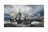 Battle of Nile or Battle of Bay of Aboukir, 1-2 August 1798 Giclee Print by Francois Etienne Musin