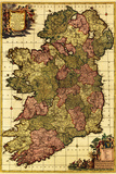 Ireland - Panoramic Map Wall Sign