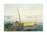 Raft on Guayaquil River, Ecuador Giclee Print by Alexander Von Humboldt