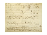 Handwritten Score for Polonaise-Fantaisie, Opus 61, 1864 Giclee Print by Frederic Chopin