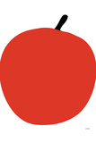 Red Apple Plastic Sign