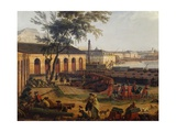 View of Port of Toulon, from Port-Neuf Taken at Corner of Artillery Park, 1755 Giclee Print by Claude-Joseph Vernet