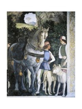Horse, Mastiffs and Grooms of Count Ludovico Gonzaga, Detail from Wall of Meeting, 1465-1474 Giclee Print by Andrea Mantegna