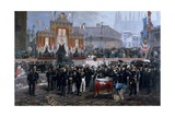 Ceremony for Laying of Foundation Stone of Galleria Victor Emmanuel II in Milan, March 7, 1865 Giclee Print by Domenico Induno