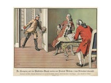 Crown Prince Frederick of Prussia Surprised by His Father, the King, While at Flute Practice Giclee Print by Carl Rochling