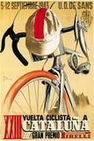 Reklame for cykelløb, på italiensk Plastikskilte af Lantern Press