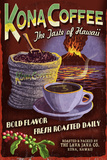 Kona Coffee - Hawaii Plastic Sign by  Lantern Press