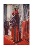 He Reached the Altar Where the Crown Lay: Lifting it He Placed it Upon His Head Giclee Print by Arthur C. Michael